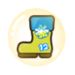 Cheerleader Cookie Rain Boot