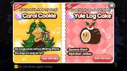 Carol Cookie and Yule Log Cake