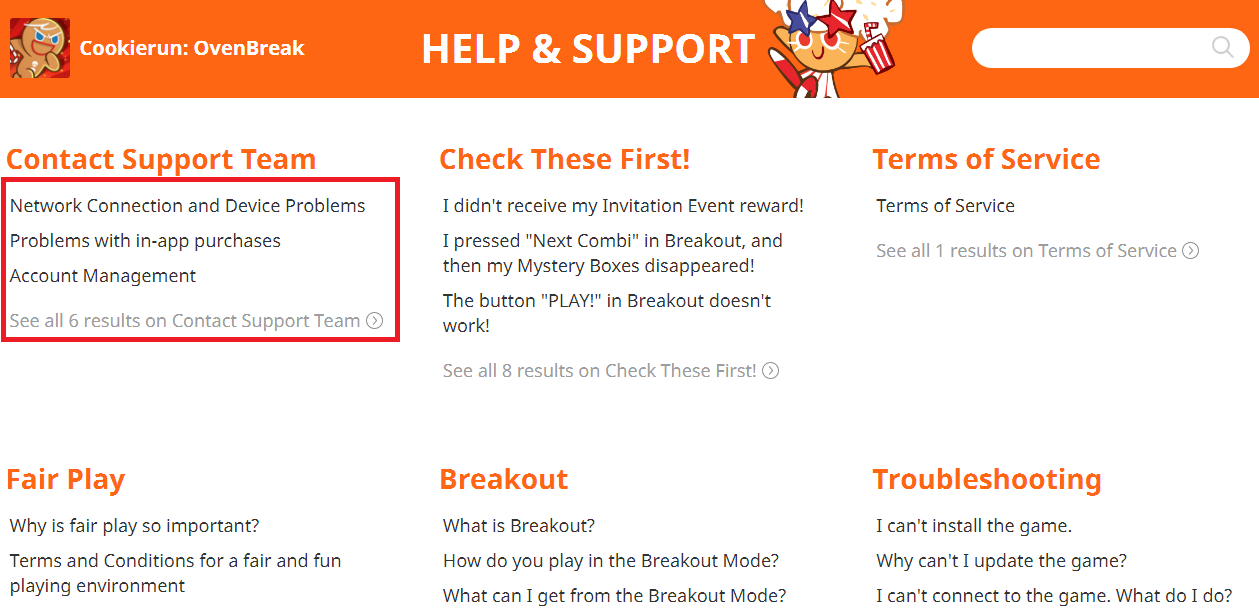 Cookie Run Wiki:Customer Support   Cookie Run Wiki   FANDOM powered