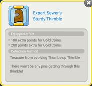 Expert Sewer's Sturdy Thimble
