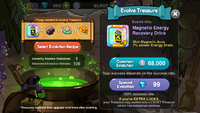 Treasure Evolution Page