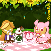Picnic with Cherry Blossom Cookie