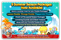 Summer Season Package Newsletter
