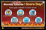 Monday Season 1 Score Day