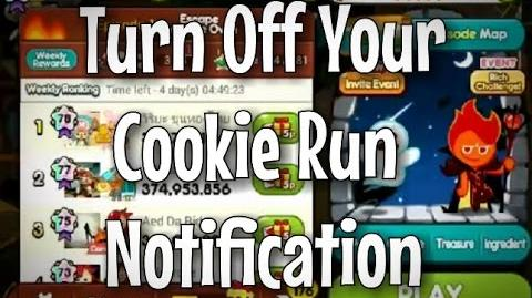 How To Turn Off Your Cookie Run Notification!! Android iOS