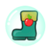 Apple Cookie Rain Boot