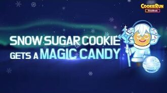 Cookie Run OvenBreak Snow Sugar Cookie gets a Magic Candy!