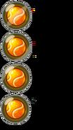 Orange Tennis ball sheet