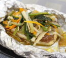 Fish and Mushrooms in Foil