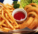 French Fries and Onion Rings