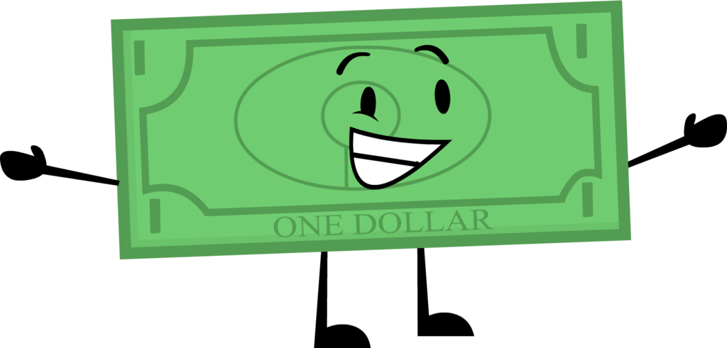 1 Dollar Bill V3 Png