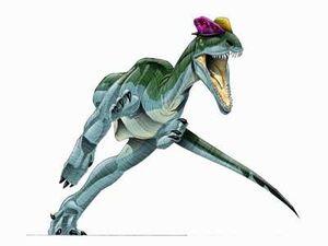 Dilophosaurus-walking