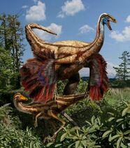 Feathered-ornithomimus