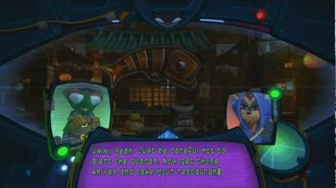Sly Cooper Thieves in Time - Sushi House footage - HD 720p