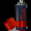 Spray de color rojo