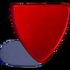 Fragmento triangular de plastico