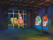 Sponge and Pat in prison only for few seconds