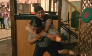 S06E11-Davis Hank wrestle