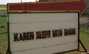 S01E11-Karen slept with Hank sign