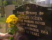 Stan's grave 1990