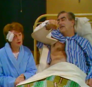 Corrie stannie in hospital 1969