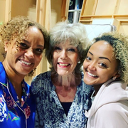 Angela Griffin on set return 2019