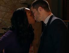 Angie kisses Adam