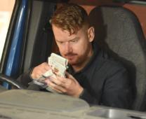 Gary with money