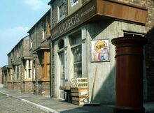 Corner shop exterior 1970