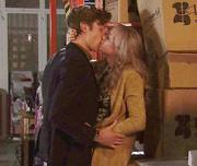 Sinead and Daniel kiss