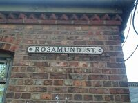 Rosamund street sign