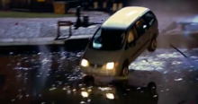 Richard's car falling into the canal