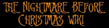Nightmare Before Christmas wordmark