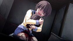Naomi holding Seiko's head