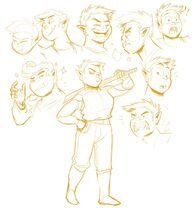 Fang poses various-expressions sheliloquy