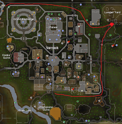 How to get to sawmill