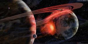 Scifi PlanetCollision