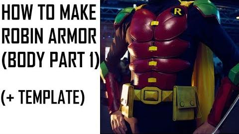 ROBIN'S ARMOR. DC COSPLAY TUTORIAL ( BODY PART 1)