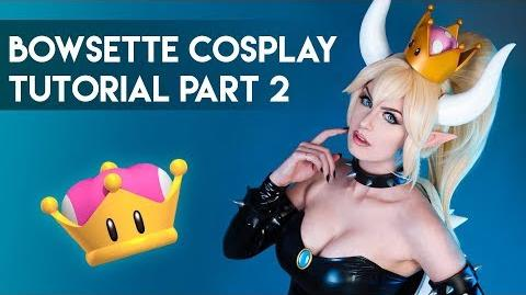 Bowsette Cosplay Tutorial Part 2 - Crown, Horns, Wig and Bodysuit