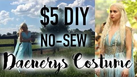 $5 DIY Daenerys Qarth Dress Game of Thrones Cosplay Costume