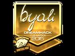 Byali - naklejka Cluj'15 (złoto)