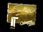 SmithZz - naklejka Cologne 2015 (złoto)