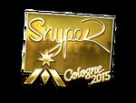 SnypeR - naklejka Cologne 2015 (złoto)