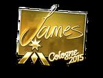 James - naklejka Cologne 2015 (złoto)