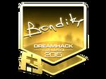 Bondik - naklejka Cluj'15 (złoto)