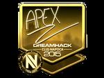 ApEX - naklejka Cluj'15 (złoto)