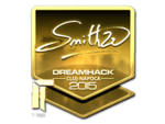 SmithZz - naklejka Cluj'15 (złoto)
