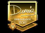 Dennis - naklejka Cluj'15 (złoto)