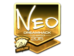 NEO - naklejka Cluj'15 (złoto)
