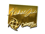 Allu - naklejka Cologne 2015 (złoto)